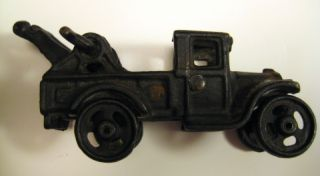 Old Cast Iron Toy Truck Riveted Body LM 293 Stamped in Truck Bed