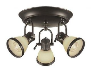 Hampton Bay Brookhaven 764736 Bronze 3 Light Ceiling Track Lighting