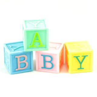 Plastic Baby Building Blocks for Christening Baby Shower Cake
