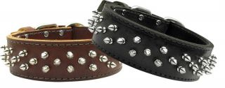 Leather Spike Spiked Stud Brutus Dog Pet Puppy Collar Spikes