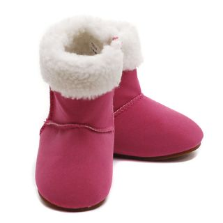 Modit Baby Girls 3 Berry Micro Suede Zipper Faux Fur Cuff Boots