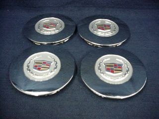Cadillac DTS 08 11 Chrome Center Caps Set of 4 Fits The 17 9 Spoke