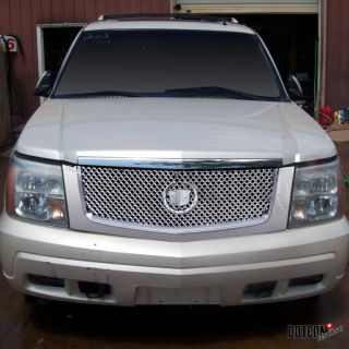 02 06 cadillac escalade chrome front mesh hood grill