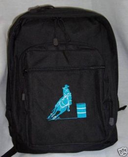 Barrel Racing Racer Turquoise Backpack Horse Bookbag