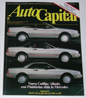 Autocapital 9 1986 Cadillac Allante BMW M3 Toyota MR2 Land Cruiser