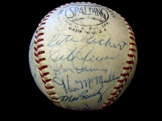 Carl Erskines 1963 Los Angeles Dodgers Team Signed Baseball *World