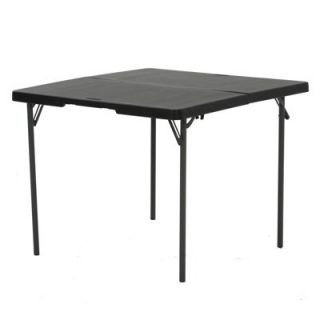 Lifetime 37 Light Commercial Fold in Half Card Table Black