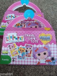 Lalaloopsy Mini Travel Game Tote Card Game Go Fish NIB