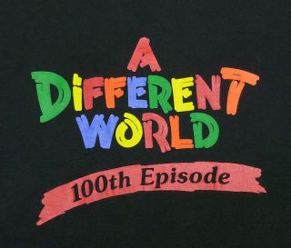 VINTAGE 90S A DIFFERENT WORLD 100TH EPISODE HIP HOP T SHIRT L