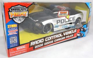Jada 1 16 Radio Remote Control Heat Dodge Charger Police Car w Light