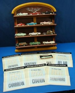Franklin Mint Classic 50s Cars Shelf w 12 Cars 1 48 Mini Precision