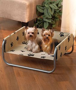 Print Pet Cot for Small Dogs Puppy Cat Supplies Cute Comfy Bed