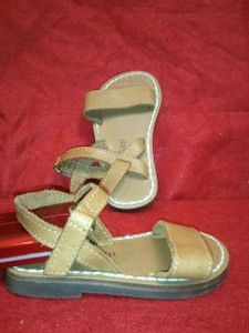 Baby Gap Leather Caramel Tan Baby Girl Sandals Size 3