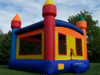 Commercial Inflatable Castle Themed Bounce House Moonwalk Bouncer