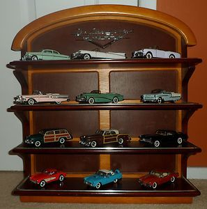 Mint Classic Cars of the Fifties 1950s 1 43 scale with Display Shelf