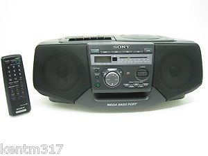 Sony Boombox CFD V35 Portable Stereo CD Cassette Player Recorder