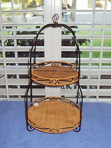 Princess House 2565 Casual Home Rattan Wire Two Tier Server