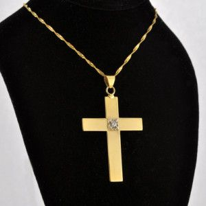 Latin Style Handcraft Cross Accents 5 Points Diamond at Center