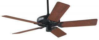 Hunter Classic Original 52 Ceiling Fan Model 23855 in Flat Black with