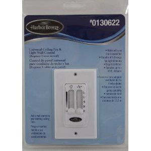 Harbor Breeze Universal Ceiling Fan Light Wall Control