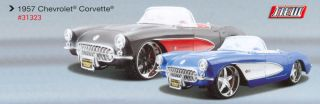 this auction is for black red 1957 chevrolet corvette diecast model