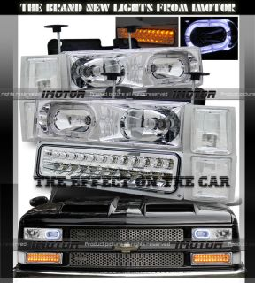 94 98 Chevy C/K C10 Full Size/Tahoe/Suburban Halo Headlights/LED
