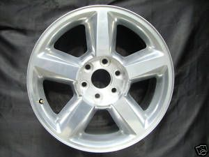 20 INCH CHEVROLET SILVERADO TAHOE SUBURBAN FACTORY POLISHED WHEEL 5308
