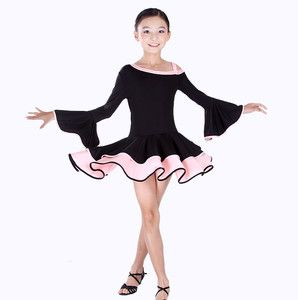 Childrens Latin Salsa Ballroom Dance Dress Girls Dancewear FY031