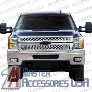 2011 Chevy Silverado 2500HD Chrome Grill Grille Overlay 2 Pcs