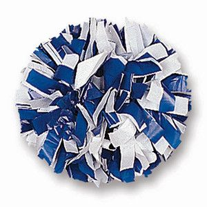 00030BA One 1 Cheerleading Pom Poms 6 2 Color White Mix Plastic