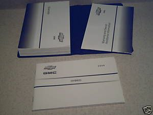 2006 Chevrolet Silverado Hybrid Owners Manual w Case