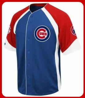 Chicago Cubs MLB Majestic Wheelhouse Jersey Big and Tall Sizes