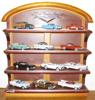 Franklin Mint Classic Cars of the 1950s Die Cast Models Display Stand