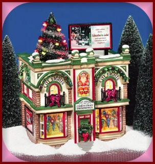 Dept. 56 City Lights Christmas Trimmings Snow Village SV NEW