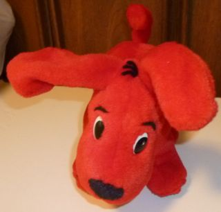 CLIFFORD Red Dog plush stuffed doll poseable legs 10 long