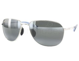 New Maui Jim Coconuts 322 17 Silver Blue Neutral Grey Polarized