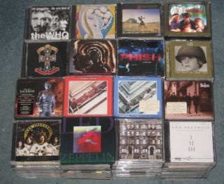 277 CD Lot Collection Led Zeppelin The Beatles Who U2 Rolling Stones