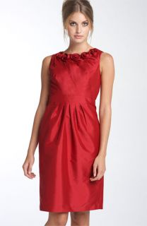 Adrianna Papell Rosette Taffeta Sheath Dress