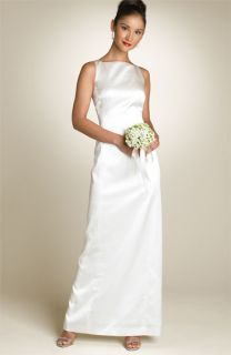 Nicole Miller Square Neck Satin Gown