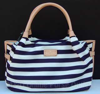 NEW Authentic Kate Spade Collins Avenue Stevie Purse Bag Navy Cream