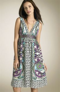 Nicole Miller Mixed Print Dress