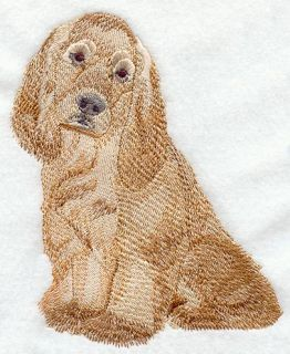 American Cocker Spaniel Dog Quilt Block Machine Embroidery Quilt Block