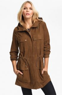 MICHAEL Michael Kors Leather Anorak