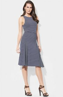 Lauren Ralph Lauren Belted Stripe Tank Dress (Petite)