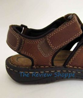 Club Room Celeb Leather Sport Sandals Brown 8M NWOB Womens Mens Unisex