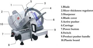 15mm thickness heavy duty electric meat slicer 300mm blade commercial