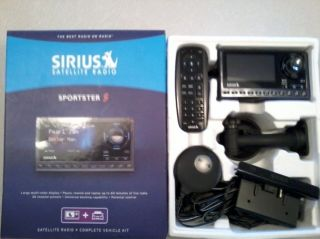 Sirius Satellite Radio Receiver and Complete Car Vehicle Kit