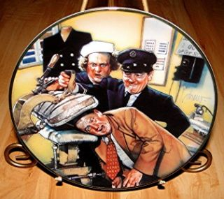 The 3 Three Stooges A Pressing Problem Franklin Mint Plate