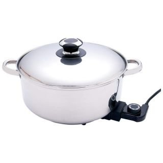 Stainless Steel Deep Electric Skillet Slow Cooker Deep Fryer