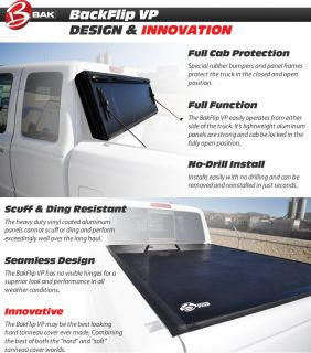 Bak Bakflip VP Vinyl Covered Hard Tonneau Cover 2004 2013 Ford F 150 6